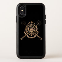 Harry Potter | Hogwarts Crossed Wands Crest OtterBox Symmetry iPhone X Case