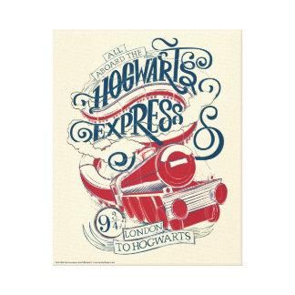 Harry Potter | Hogwarts Express Typography Canvas Print