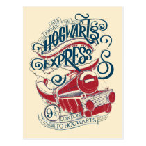Harry Potter | Hogwarts Express Typography Postcard
