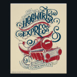 "Harry Potter | Hogwarts Express Typography Poster<br><div class=""desc"">""All About The Hogwarts Express"" is written in fun type around the Hogwarts Express train curving in motion. This graphic features the train leaving the secret Platform 9 &#190; from London to Hogwarts.</div>"