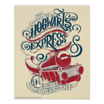 Harry Potter | Hogwarts Express Typography Poster