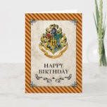 "Harry Potter | Hogwarts Happy Birthday Card<br><div class=""desc"">Celebrate your child&#39;s birthday with this Hogwarts Crest Birthday Card! Whether they&#39;re in Gryffindor, Slytherin, Hufflepuff, or Ravenclaw, your child and their friends can celebrate together with the Hogwarts School of Witchcraft and Wizardry Crest. Don&#39;t forget to send out the matching Hogwarts Crest invitations, and pair with matching party stamps...</div>"