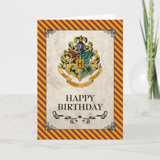 Harry Potter Birthday Card.Harry Potter Hogwarts Happy Birthday Card
