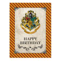 Harry Potter   Hogwarts Happy Birthday Postcard