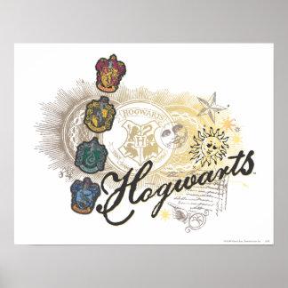 Harry Potter | Hogwarts Houses - Full Color Poster