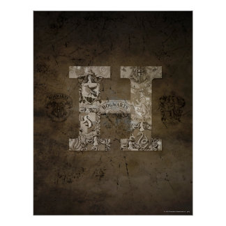 Harry Potter | Hogwarts Monogram Poster