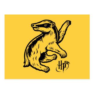 Harry Potter   Hufflepuff Badger Icon Postcard
