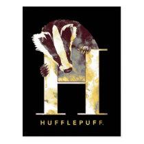 Harry Potter   HUFFLEPUFF™ Badger Watercolor Postcard