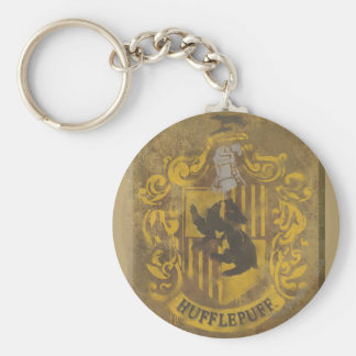 Harry Potter   Hufflepuff Crest Spray Paint Keychain