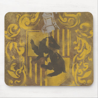 Harry Potter | Hufflepuff Crest Spray Paint Mouse Pad