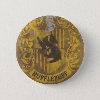 Harry Potter   Hufflepuff Crest Spray Paint Pinback Button