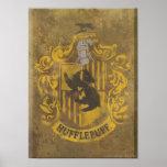 Harry Potter | Hufflepuff Crest Spray Paint Poster