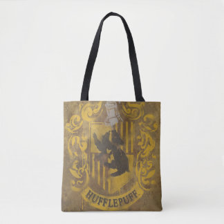 Harry Potter | Hufflepuff Crest Spray Paint Tote Bag