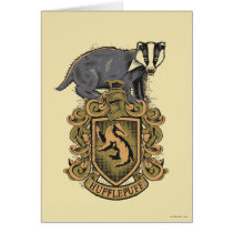 Harry Potter   Hufflepuff Crest with Badger Card