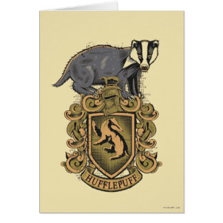 Harry Potter | Hufflepuff Crest with Badger Card
