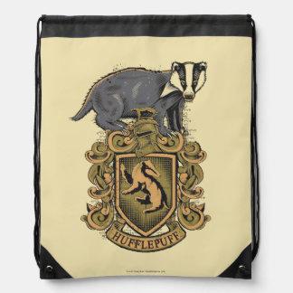 Harry Potter   Hufflepuff Crest with Badger Drawstring Backpack