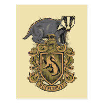 Harry Potter | Hufflepuff Crest with Badger Postcard