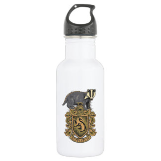 Harry Potter | Hufflepuff Crest with Badger Stainless Steel Water Bottle