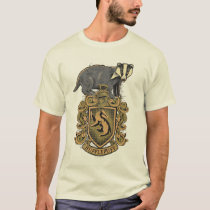 Harry Potter   Hufflepuff Crest with Badger T-Shirt