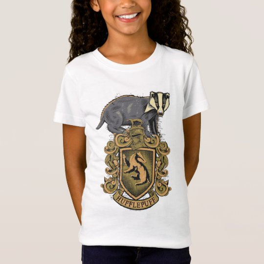 d61f39c4b454 Harry Potter | Hufflepuff Crest with Badger T-Shirt | Zazzle.com