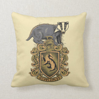 Harry Potter | Hufflepuff Crest with Badger Throw Pillow