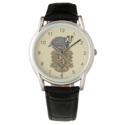Harry Potter | Hufflepuff Crest with Badger Wrist Watch