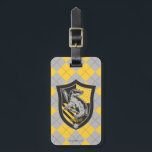"""Harry Potter   Hufflepuff House Pride Crest Bag Tag<br><div class=""""desc"""">Check out this Hufflepuff House shield crest,  featuring the Hufflepuff Badger.</div>"""