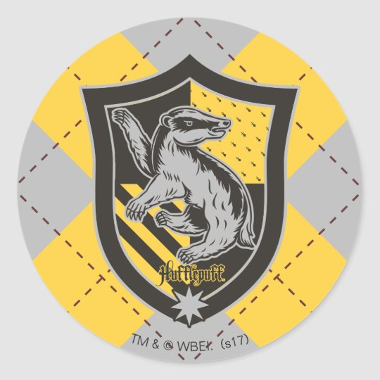 Harry Potter Hufflepuff House Pride Crest Classic Round Sticker