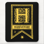 "Harry Potter | Hufflepuff Monogram Banner Mouse Pad<br><div class=""desc"">Show off your Hufflepuff House colors with this monogram &quot;H&quot; banner.</div>"