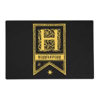 Harry Potter | Hufflepuff Monogram Banner Placemat