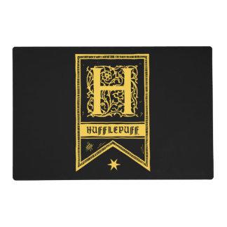 Harry Potter | Hufflepuff Monogram Banner Placemat
