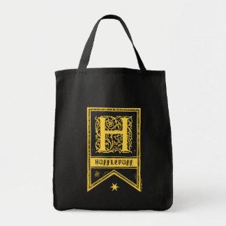Harry Potter   Hufflepuff Monogram Banner Tote Bag