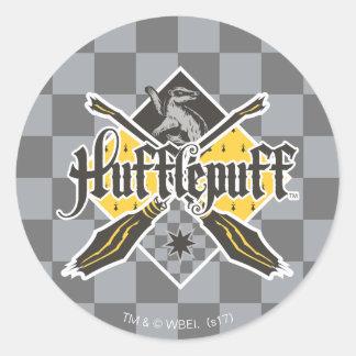Harry Potter | Hufflepuff Quidditch Crest Classic Round Sticker