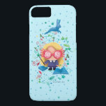 "Harry Potter | Luna Lovegood Graphic iPhone 8/7 Case<br><div class=""desc"">Check out this adorable kids storybook style watercolor graphic of Luna Lovegood,  featuring her spellbooks and hare patronus above!</div>"