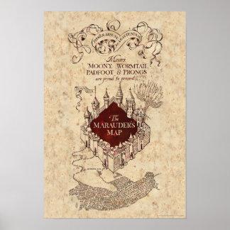 Harry Potter   Marauder's Map Poster