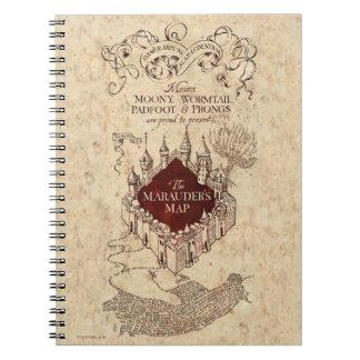 Harry Potter   Marauder's Map Spiral Notebook