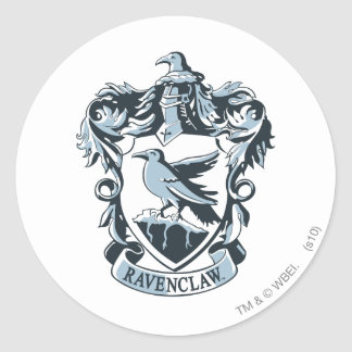 Harry Potter | Modern Ravenclaw Crest Classic Round Sticker