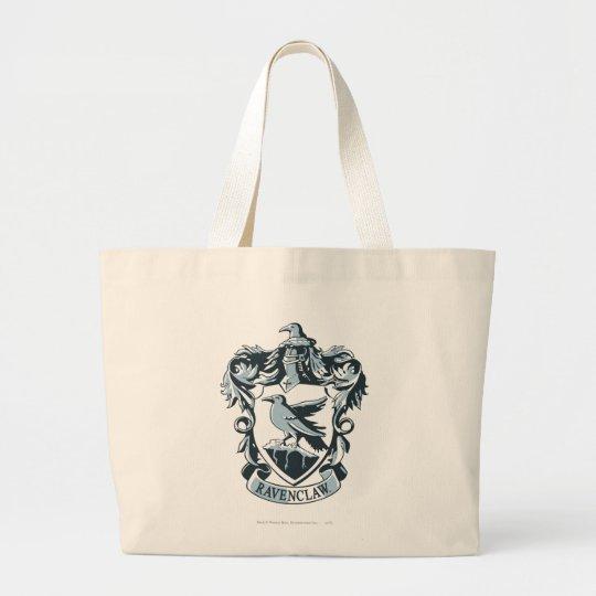 Harry Potter   Modern Ravenclaw Crest Large Tote Bag