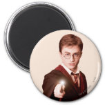 Harry Potter Points Wand 2 Inch Round Magnet