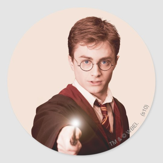 Harry Potter Points Wand Classic Round Sticker