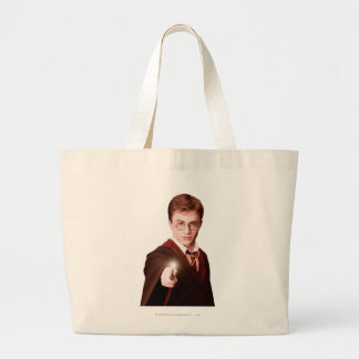Harry Potter Points Wand Large Tote Bag