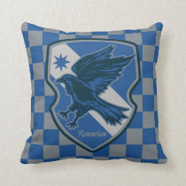 Harry Potter   Ravenclaw House Pride Crest Throw Pillow