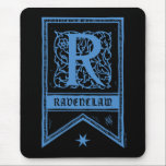 "Harry Potter | Ravenclaw Monogram Banner Mouse Pad<br><div class=""desc"">R is for Ravenclaw and only the cleverest witches and wizards from Hogwarts School of Witchcraft and Wizardry belong in this magical house! This cool black and blue monogram print is inspired by the magical world of Harry Potter. The cool blue gothic style lettering etched against a chilling black background...</div>"