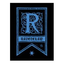 Harry Potter   Ravenclaw Monogram Banner Postcard