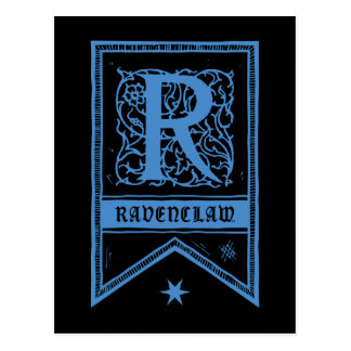 Harry Potter | Ravenclaw Monogram Banner Postcard