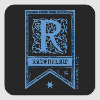 Harry Potter | Ravenclaw Monogram Banner Square Sticker