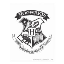 Harry Potter   Retro Hogwarts Crest Postcard