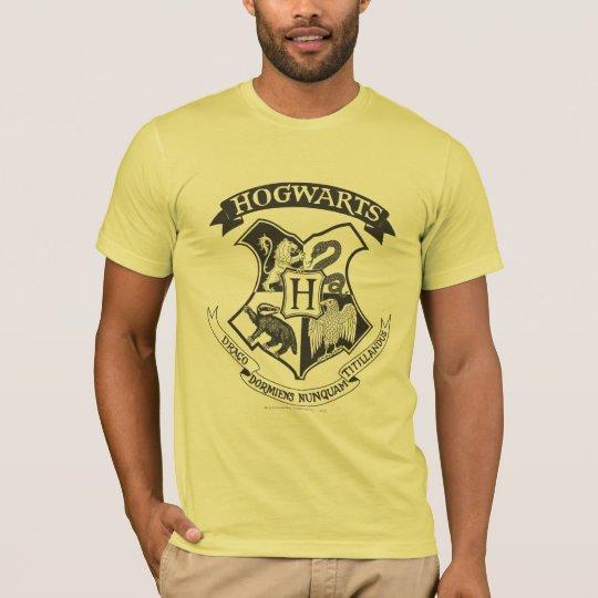 Harry Potter   Retro Hogwarts Crest T-Shirt