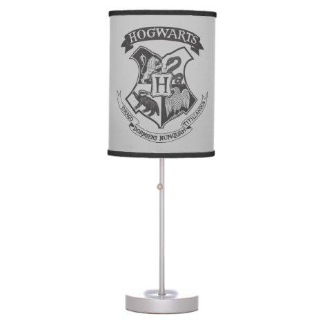 Harry Potter   Retro Hogwarts Crest Table Lamp