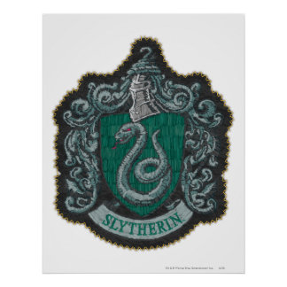Harry Potter | Retro Mighty Slytherin Crest Poster